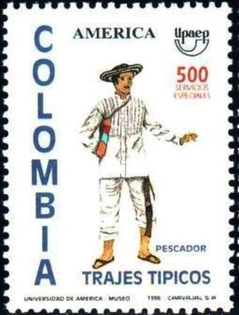 1994 Colombia-Traje Típico de Pescador