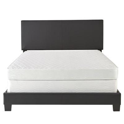 Rest Rite Barrett Black Twin Upholstered Platform Bed