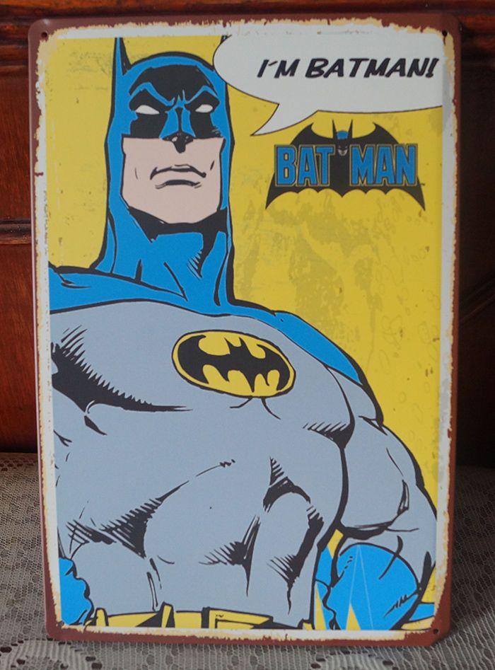 30x20cm Art Bar Pub Man Cave Wall Decor Metal Tin Sign DC Comics ...