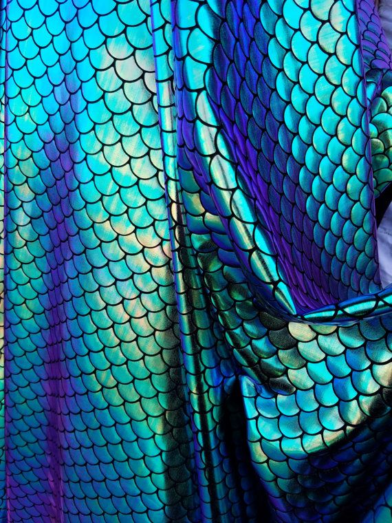 2tone iridescent scale blue purple green Mermaid Tail /& Top