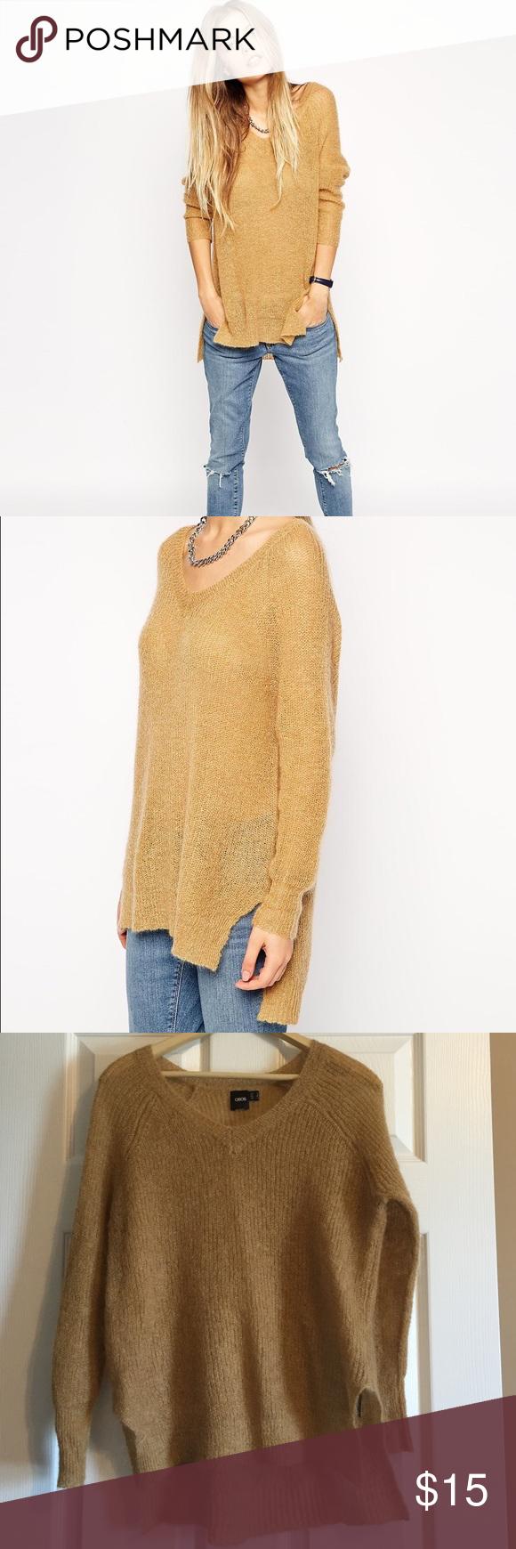 ASOS Mohair Slouchy Sweater *NWOT *43% Mohair, 29% Nylon, 28% Acrylic ASOS Sweaters V-Necks