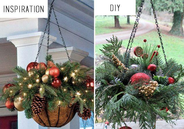 Diy Hanging Christmas Baskets Christmas Hanging Baskets Christmas Planters Diy Outdoor Christmas Diy