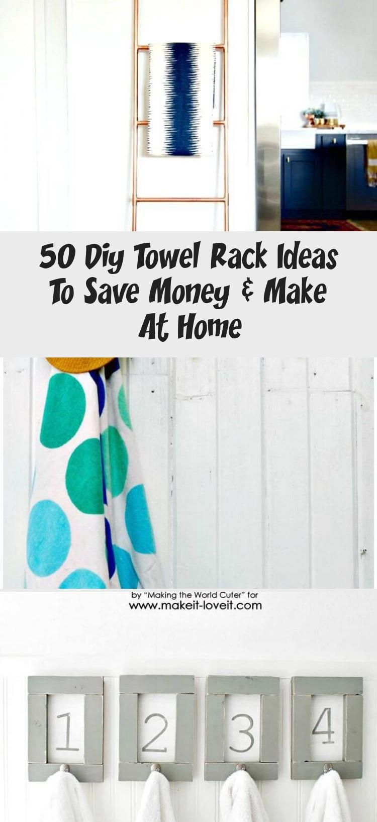 50 Diy Towel Rack Ideas To Save Money Amp Make At Home