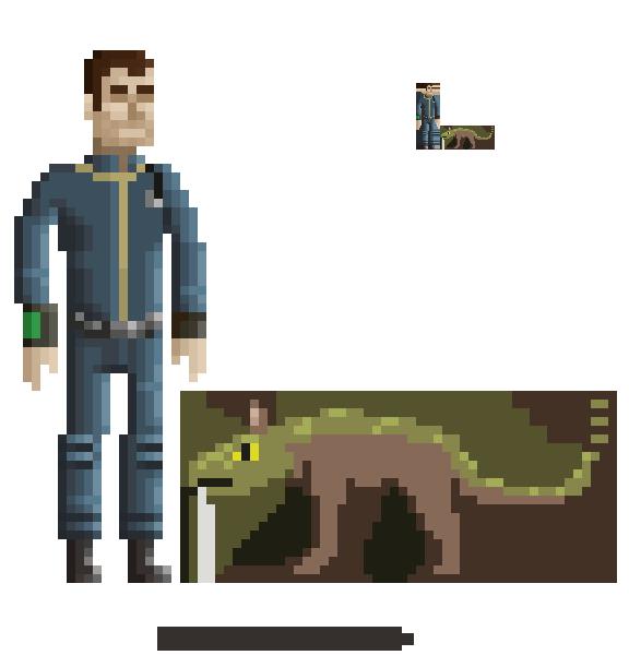 fallout 2 pixel art