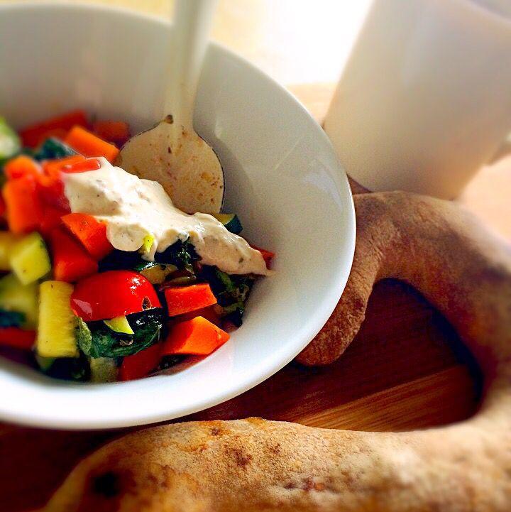 温野菜サラダ ヨーグルトソース