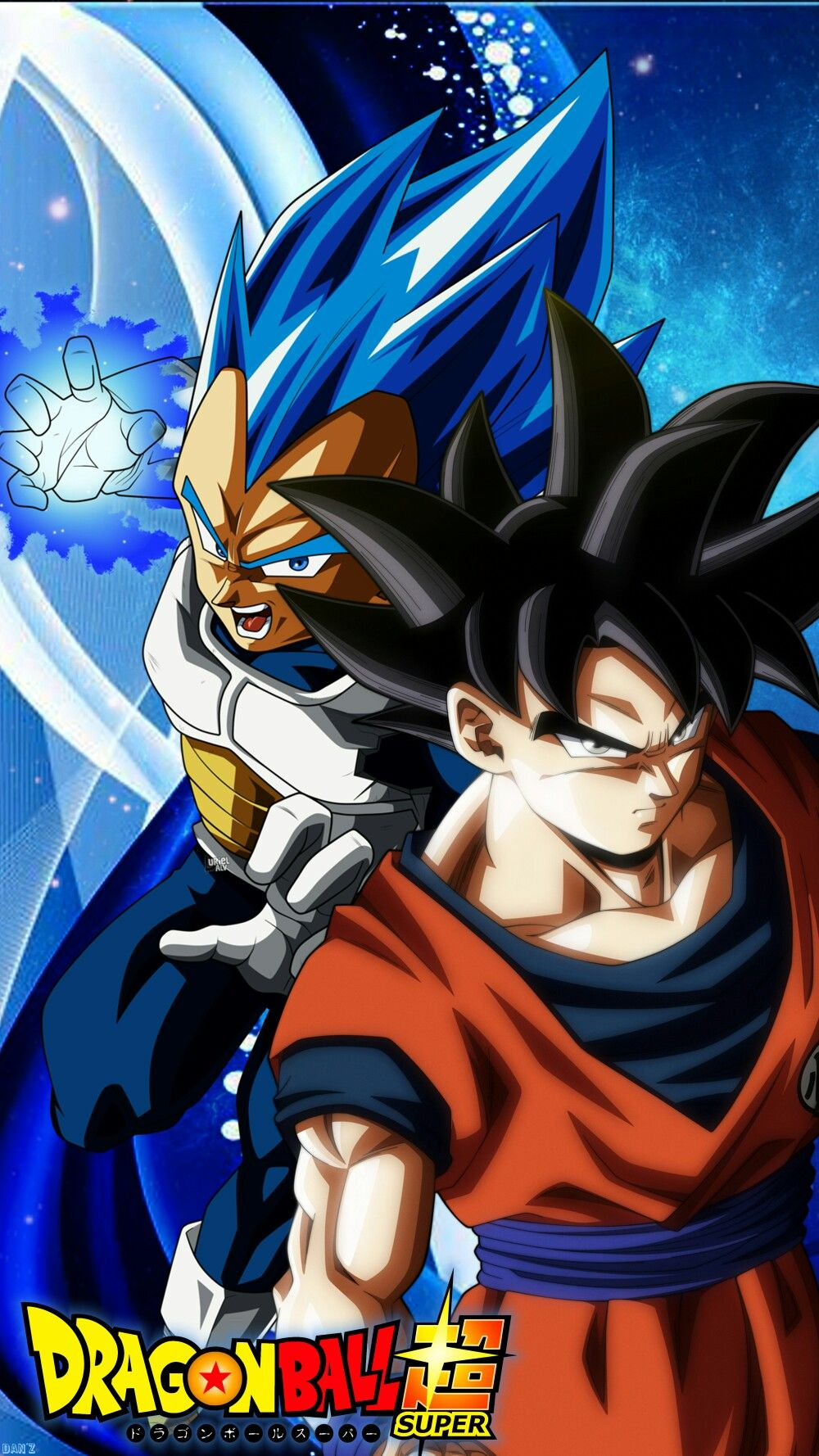 awesome check out this vegeta super sayain blue and goku
