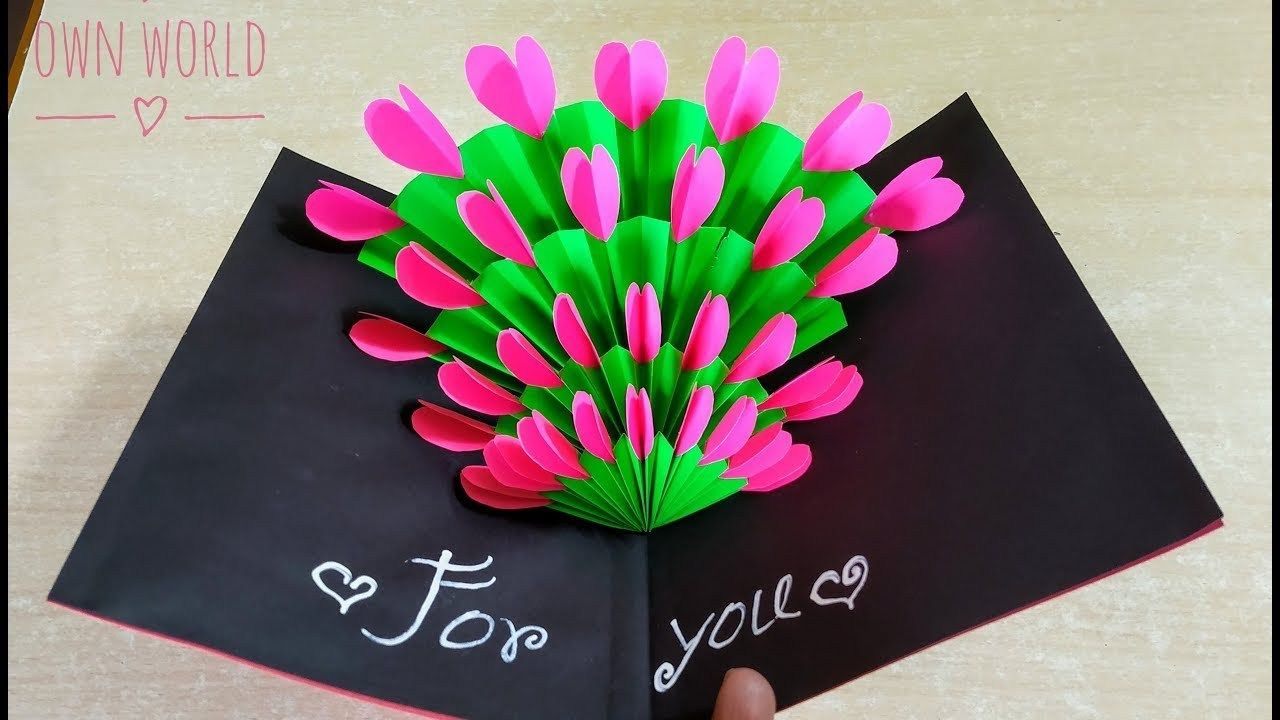 Easy ! Beautiful Handmade Valentine's Day card idea