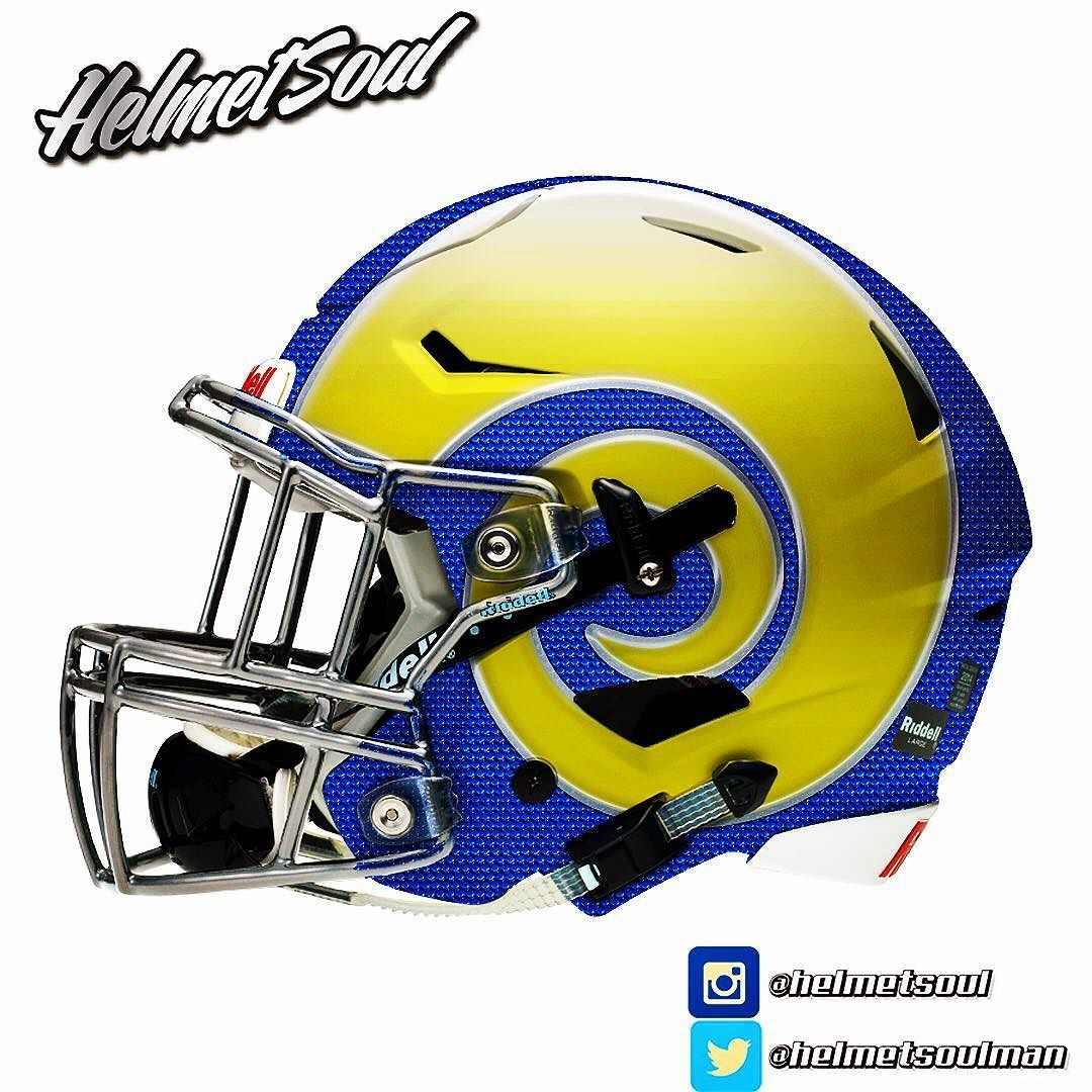 Los Angeles Rams (With images) Cool football helmets