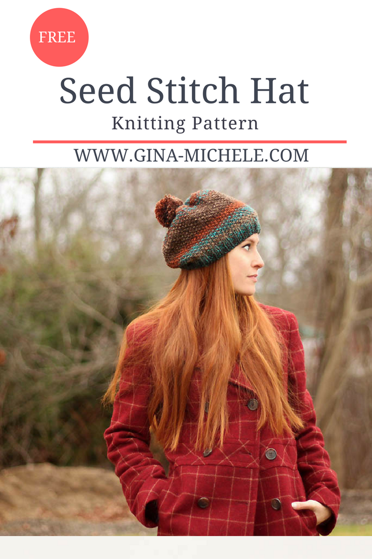 Seed Stitch Hat Knitting Pattern | vestidos crochet | Pinterest ...