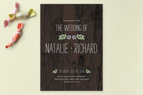 In the Park Wedding Invitations minted.com
