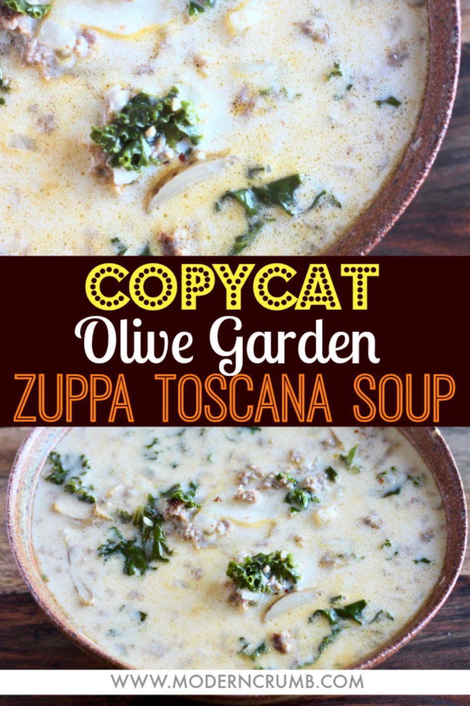 Copycat Olive Garden Zuppa Toscana Soup #zuppatoscanasoup
