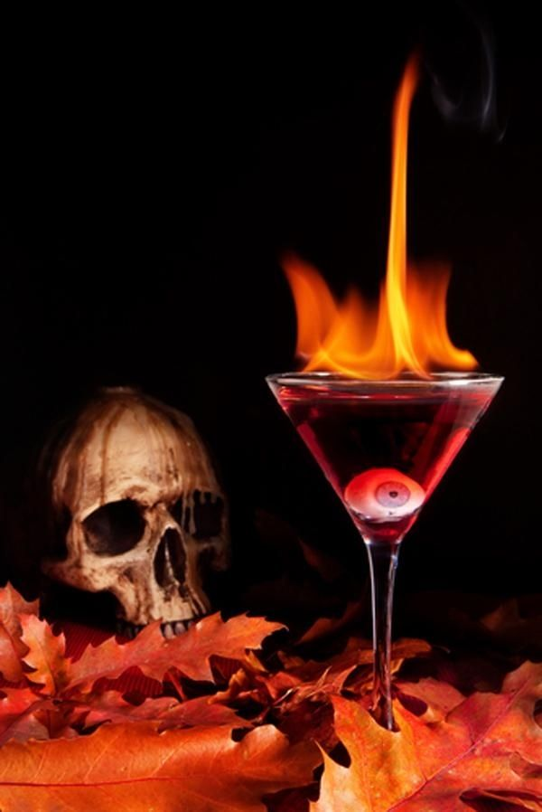 Bacardi 151 is great if you want to set your drink on fire 21 - halloween cocktail ideas