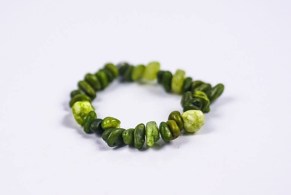 GENUINE GREEN QUARTZ Stone Chip Bracelet  #Bracelets See more! https://lalamotifs.com/product/genuine-green-quartz-stone-chip-bracelet/