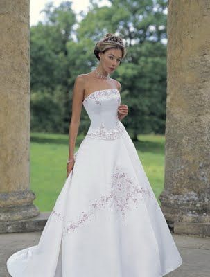 Soft white color of the dress is very charming
