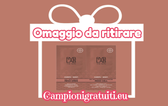 Campione gratuito kit RVB LAB Meso Body Treatment
