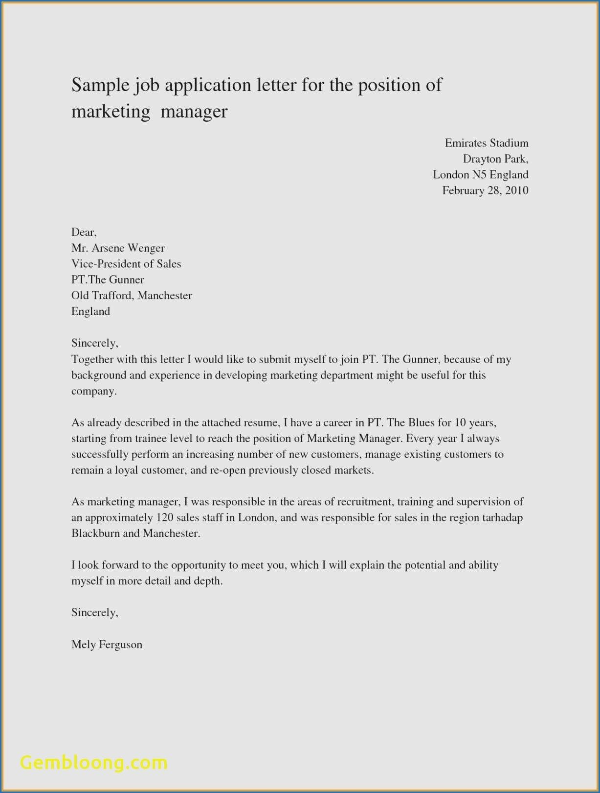 Download Unique Cover Letter Sample for A Job Position ...