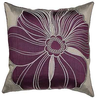 Purple and Grey flower pillow decorating Pinterest Pillows