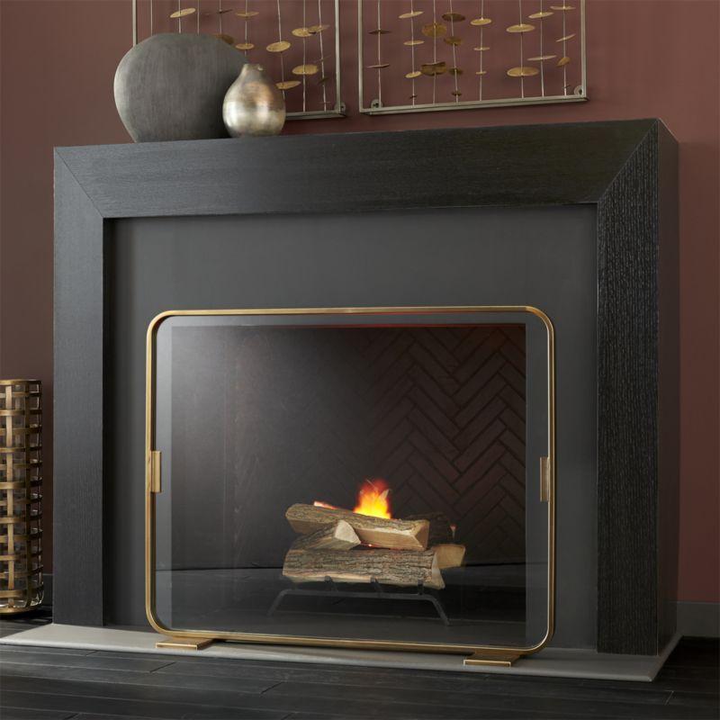 Shop Lana Fireplace Screen Our Contemporary Fireplace Screen
