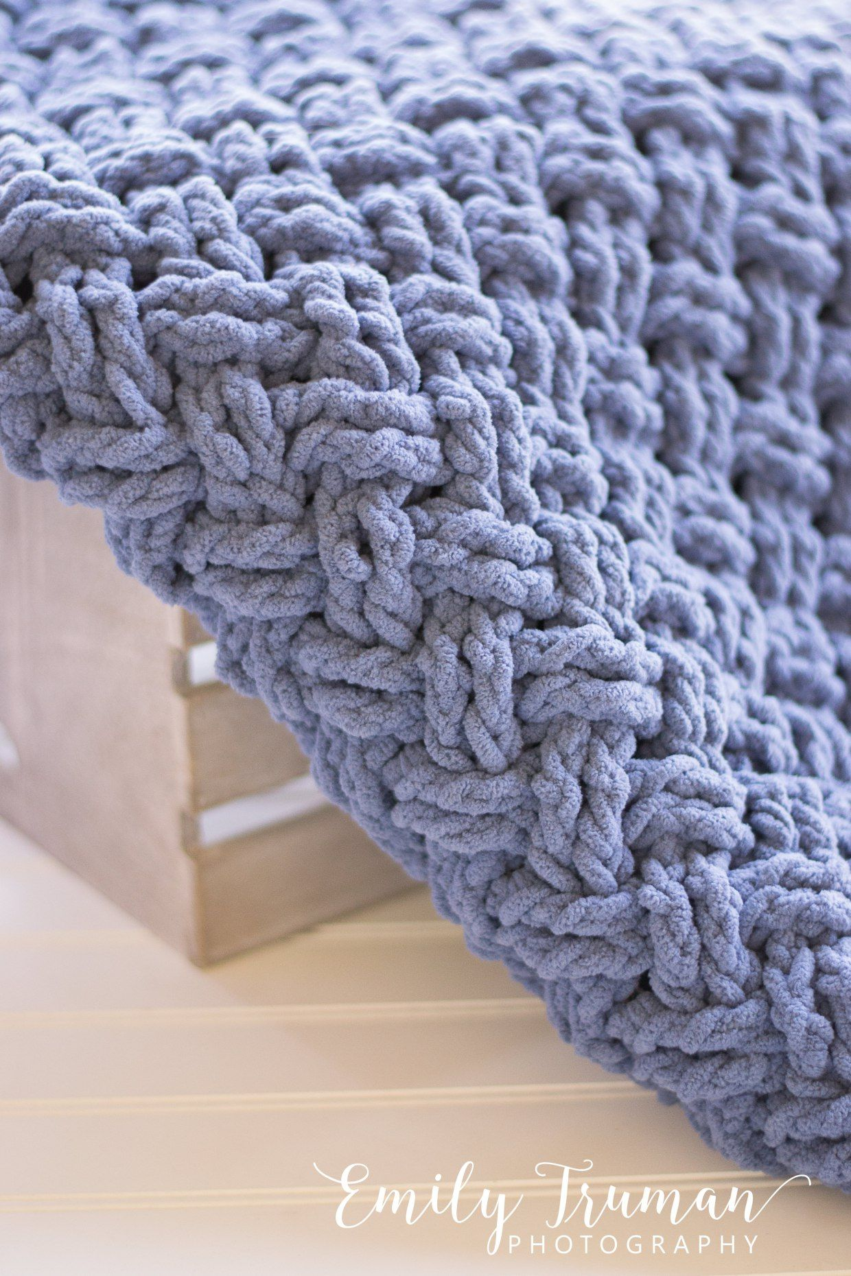I needed to make a baby blanket for a dear friend who just had a new ...