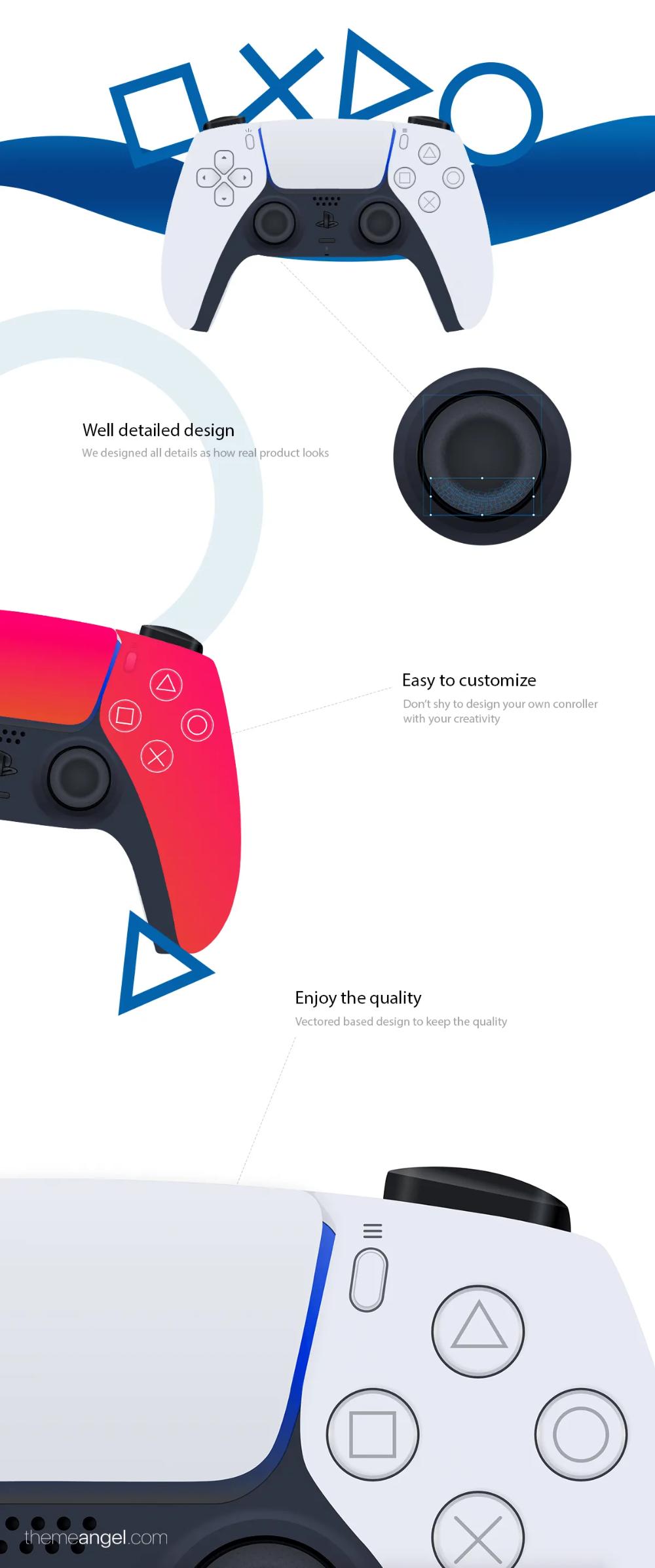 Playstation 5 Dualsense Controller Template Playstation 5 Playstation Driver App