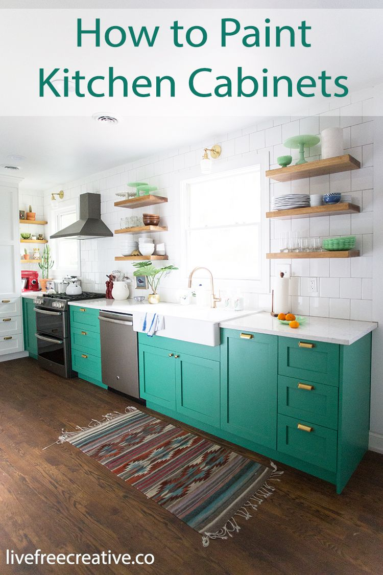How to Paint Kitchen Cabinets with a Paint Sprayer | Kitchens, Green ...