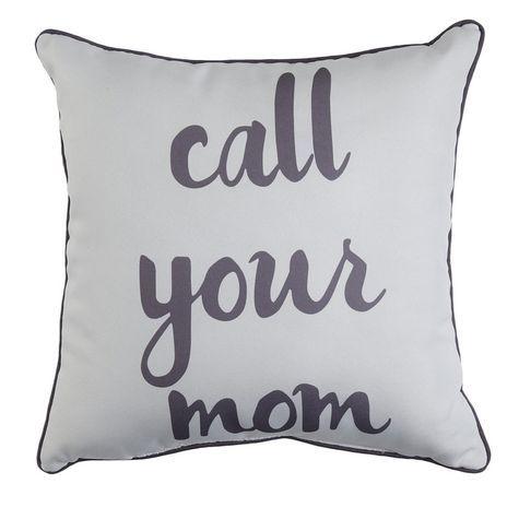 Spencer Home Decor Call Your Mom Print Decorative Pillow 40x40 Mesmerizing Spencer Home Decor Pillows