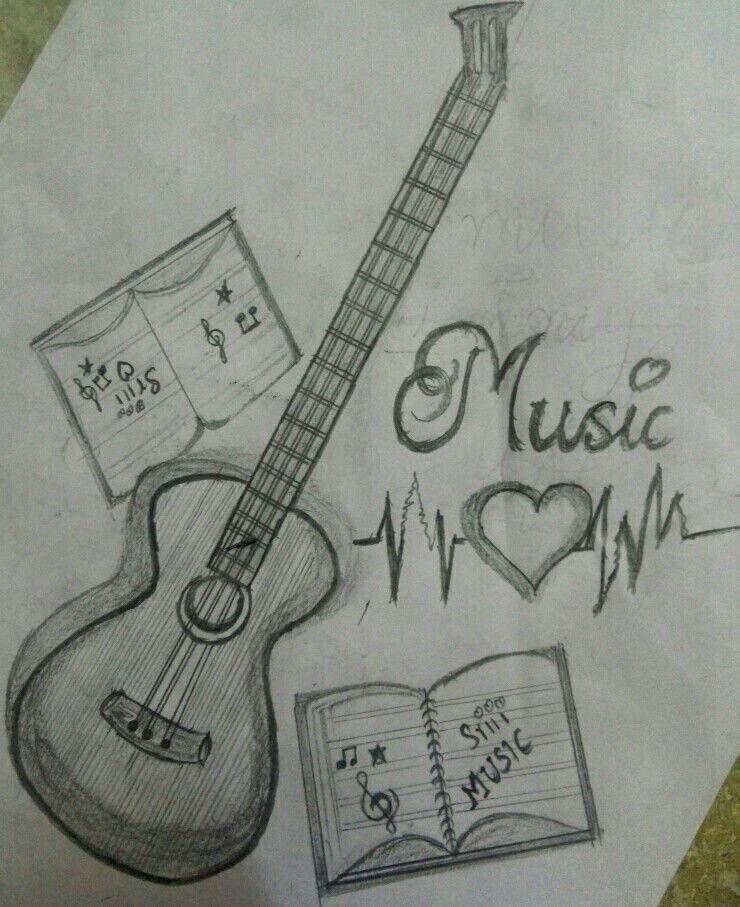 Pin By ʕ W ʔ On Dibujos In 2020 Art Drawings Simple Art Drawings Sketches Simple Music Drawings