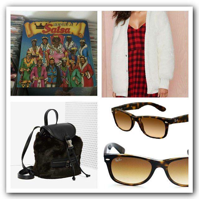 Entrega inmediata Los reyes de la salsa LP 25.000; Polar bear cardi 120.000; Black bear backpack 60.000; Wayfarer ray ban 150.000 #shopaholics #onlineshop #tlbrecords #recordstore #bogota #colombia #vinyl #nastygal #rayban by shopaholicseydc