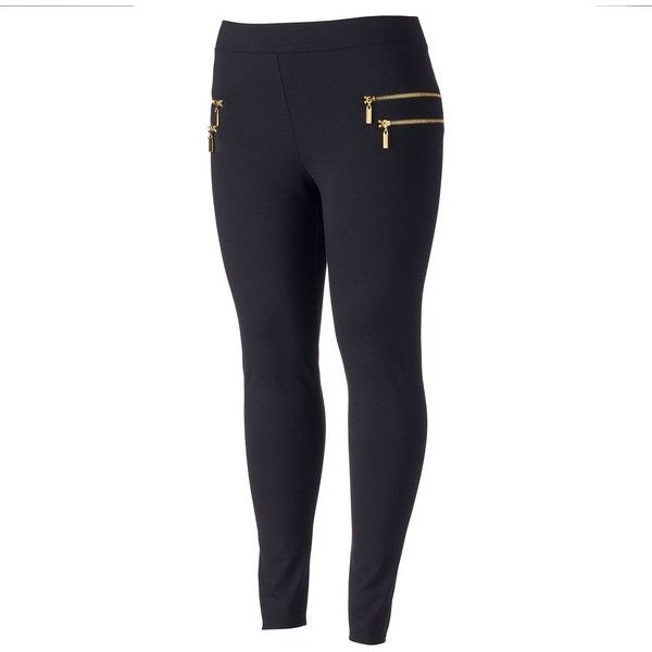 See this and similar Jennifer Lopez leggings - Glam it up wearing these women's Jennifer Lopez leggings, featuring chic zippered accents. In black. Stretchy pon...
