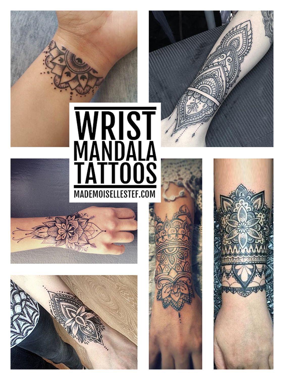 6 Sheets Wrist Body Art Henna Tattoo Stencil Flower: Tattoo Ideas #54 - Wrist Mandala I