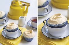 Earl Grey Cupcakes: I have always wanted to try making cake with tea, and I have boxes and boxes of Earl Grey.