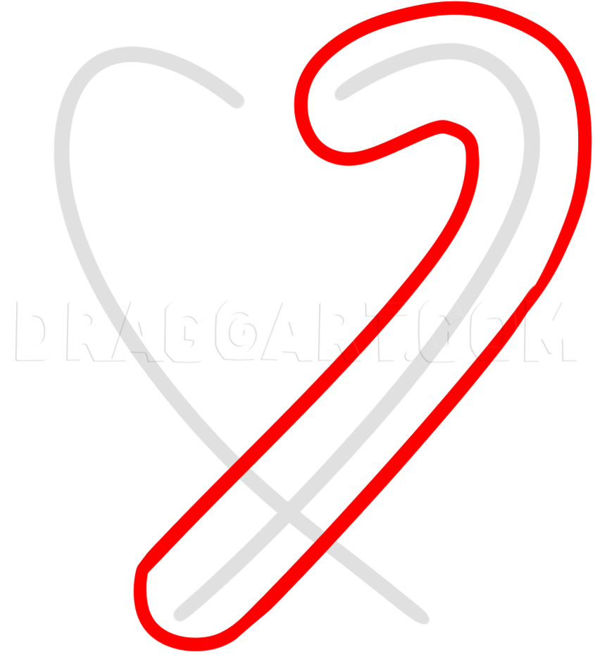 How To Draw A Candy Cane Heart Step By Step Drawing Guide By Dawn Dragoart Com Guided Drawing Candy Cane Drawings