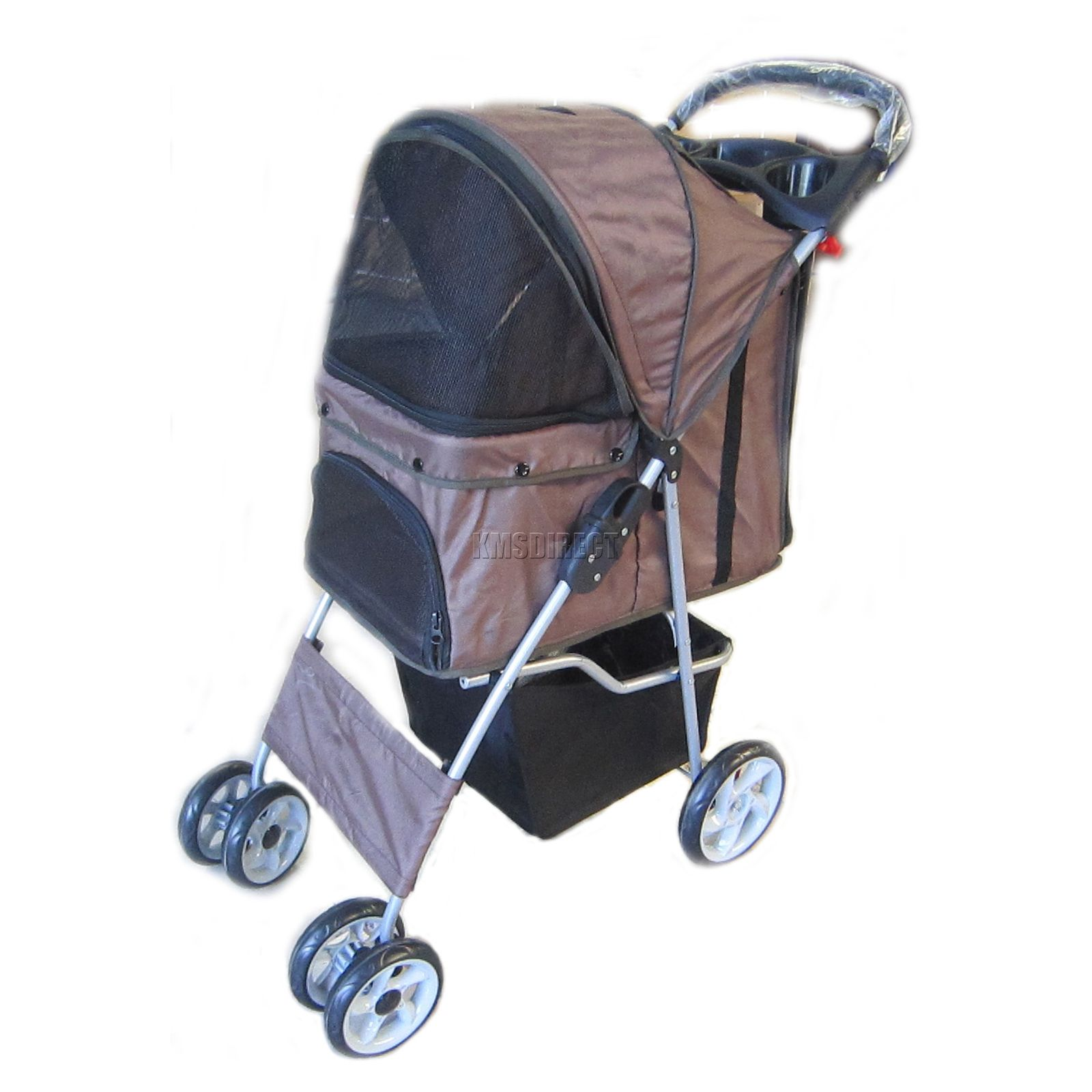 Pet pushchair dog puppy cat pram travel buggy stroller