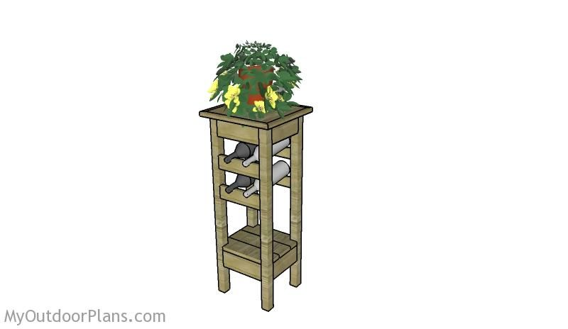 plant stand with wine rack plans plant stand plans wine rack plans diy garden projects. Black Bedroom Furniture Sets. Home Design Ideas