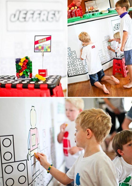 lego themed birthday party lego ein spielerisches motto f r den kindergeburtstag pinterest. Black Bedroom Furniture Sets. Home Design Ideas