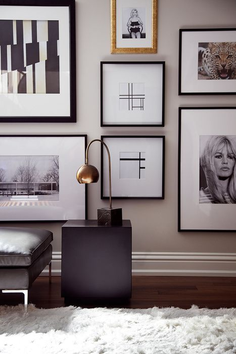 cuadros blanco y negro para sala de tv