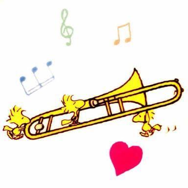 トロンボーン トロンボーン 吹奏楽 イラスト トロンボーン
