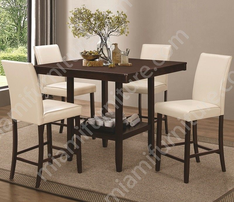 Attirant 105308 105309 Cameron Counter Height 5 Piece Dining Set   Miami Furniture