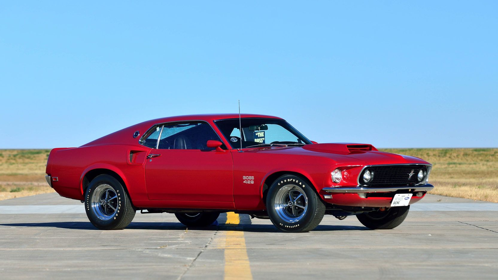 1969 Ford Mustang Boss 429 In Candy Apple Red Kk 1663 Ford