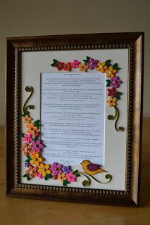 Quilling ideas custom made quilled frame paper flowers origami and also moila chaudhary moilac on pinterest rh