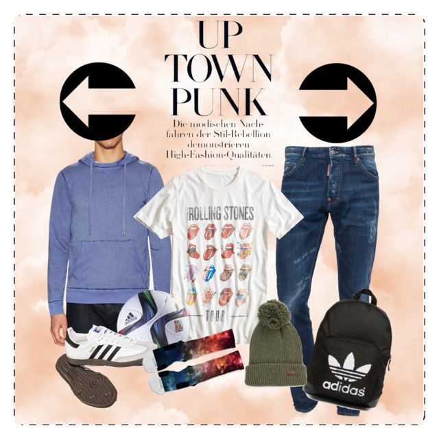 """""""Up Town Punk"""" by elenalake on Polyvore featuring Dsquared2, Velvet by Graham & Spencer, Lucky Brand, adidas Originals, adidas, Vans, women's clothing, women's fashion, women and female"""