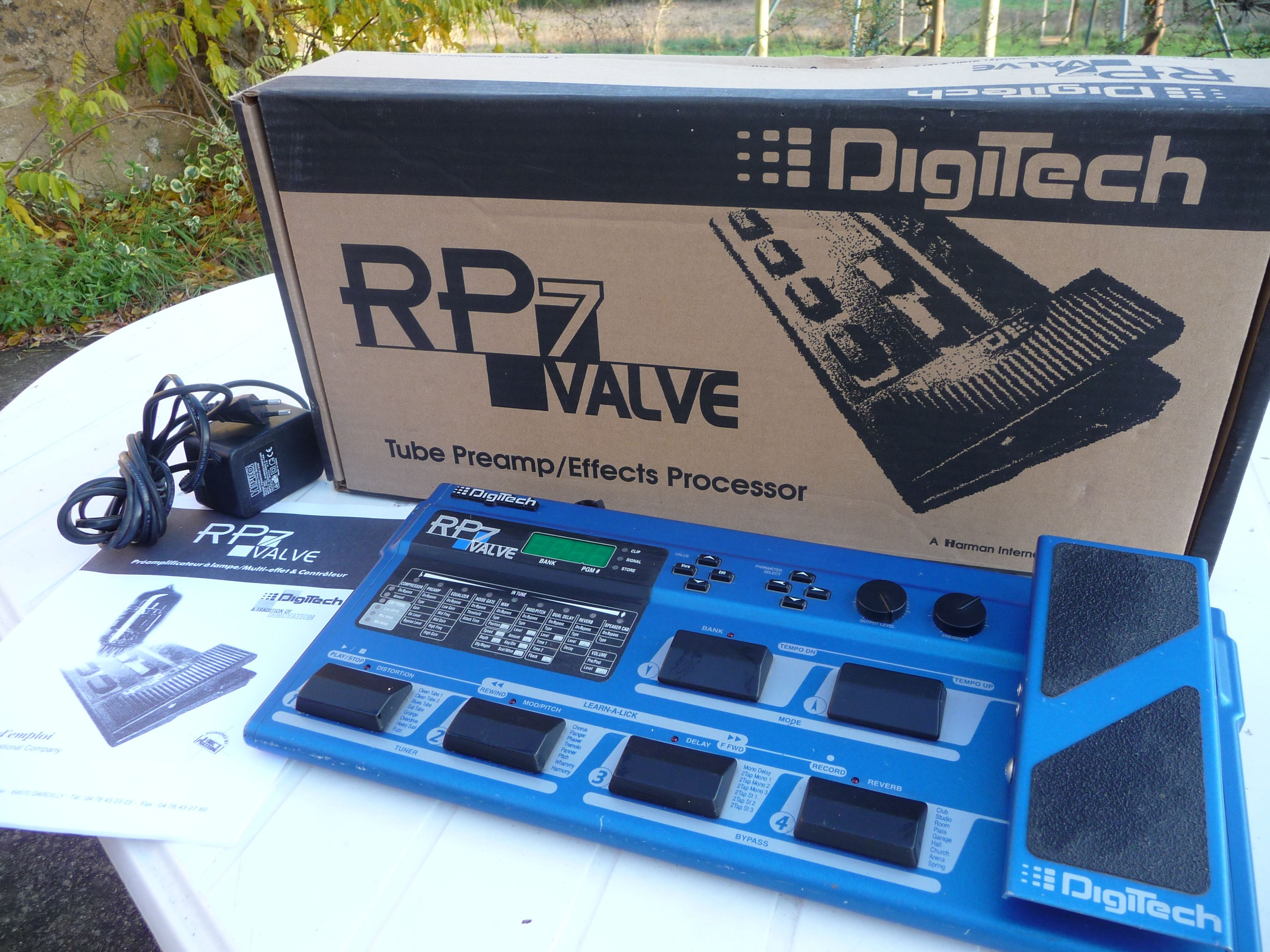 Digitech Rp7 Tube Preamp Effects Processor Controller Effects Processor Guitar Gear Processor