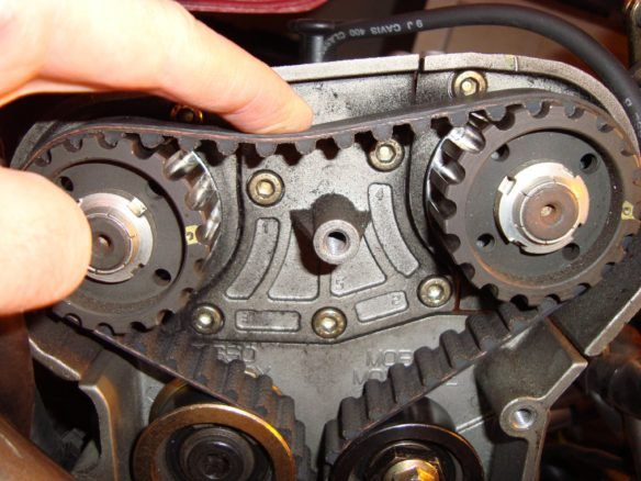 Timing Belt Transfers The Rotation Of The Crankshaft To The