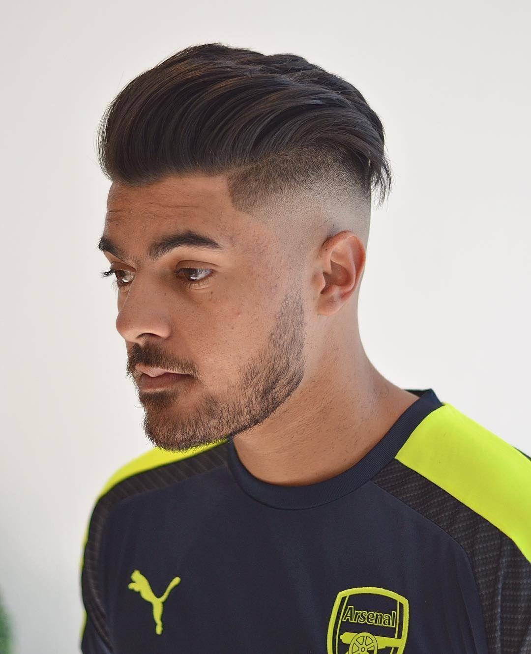 mattjbarbers soccer hair amzpaneser arsenal sweep back high fade