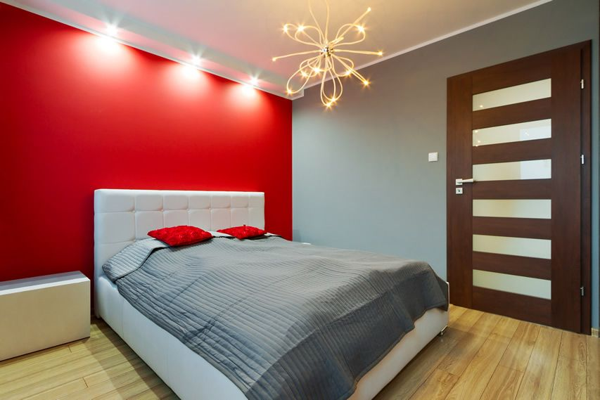 Wonderful Red Feature Wall Bedroom Ideas Part - 2: 93 Modern Master Bedroom Design Ideas (Pictures). Red Accent WallsRed ...