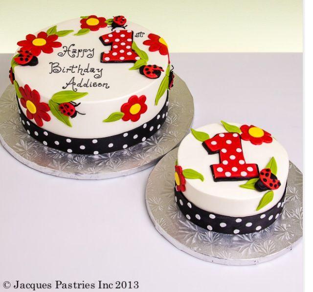 Brilliant Lady Bug Cake 1St Birthday With Images Ladybug Cakes 1St Personalised Birthday Cards Cominlily Jamesorg
