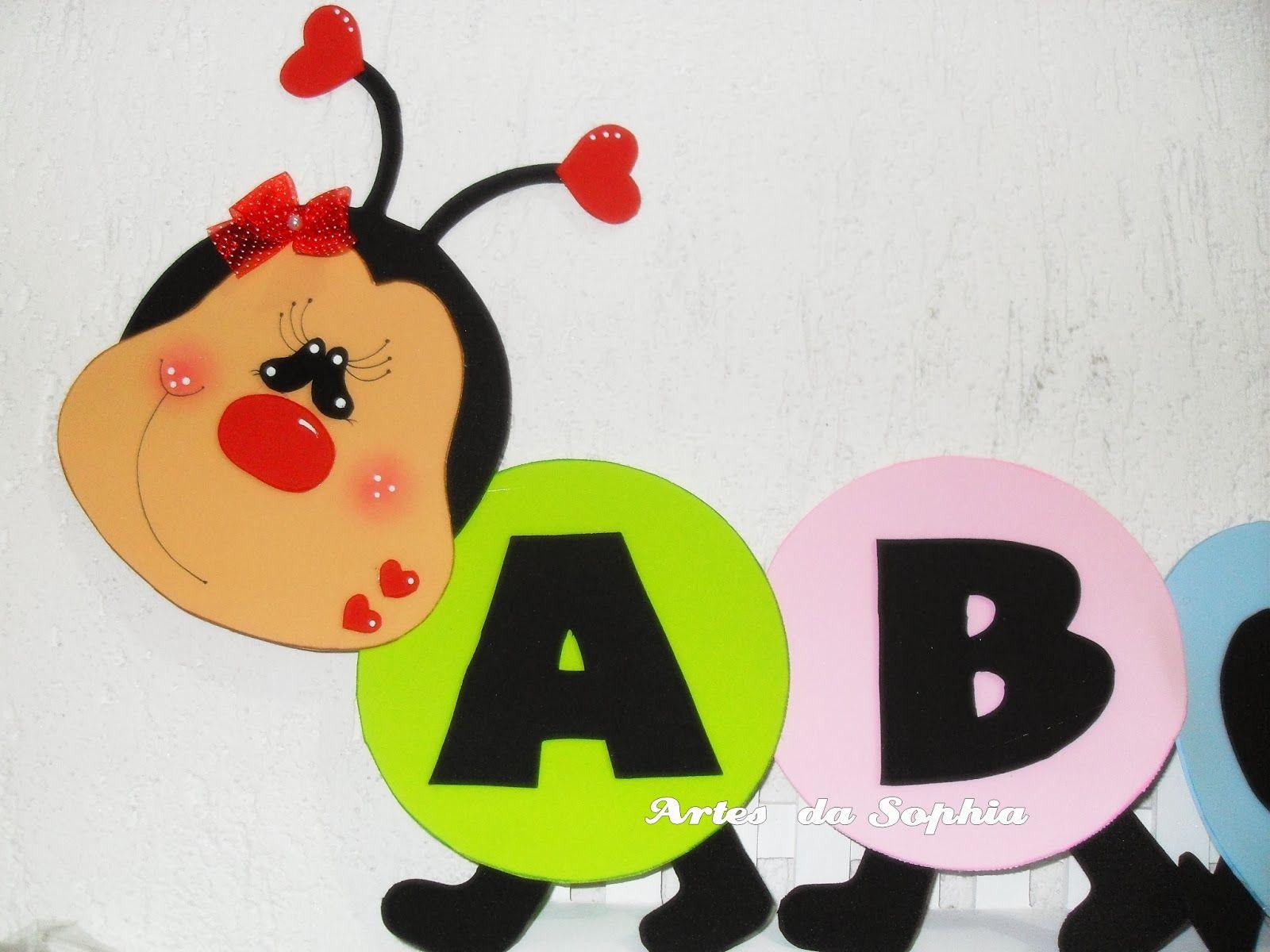 Artes Da Sophia Centopeia Alfabeto Em Eva Atividades Com