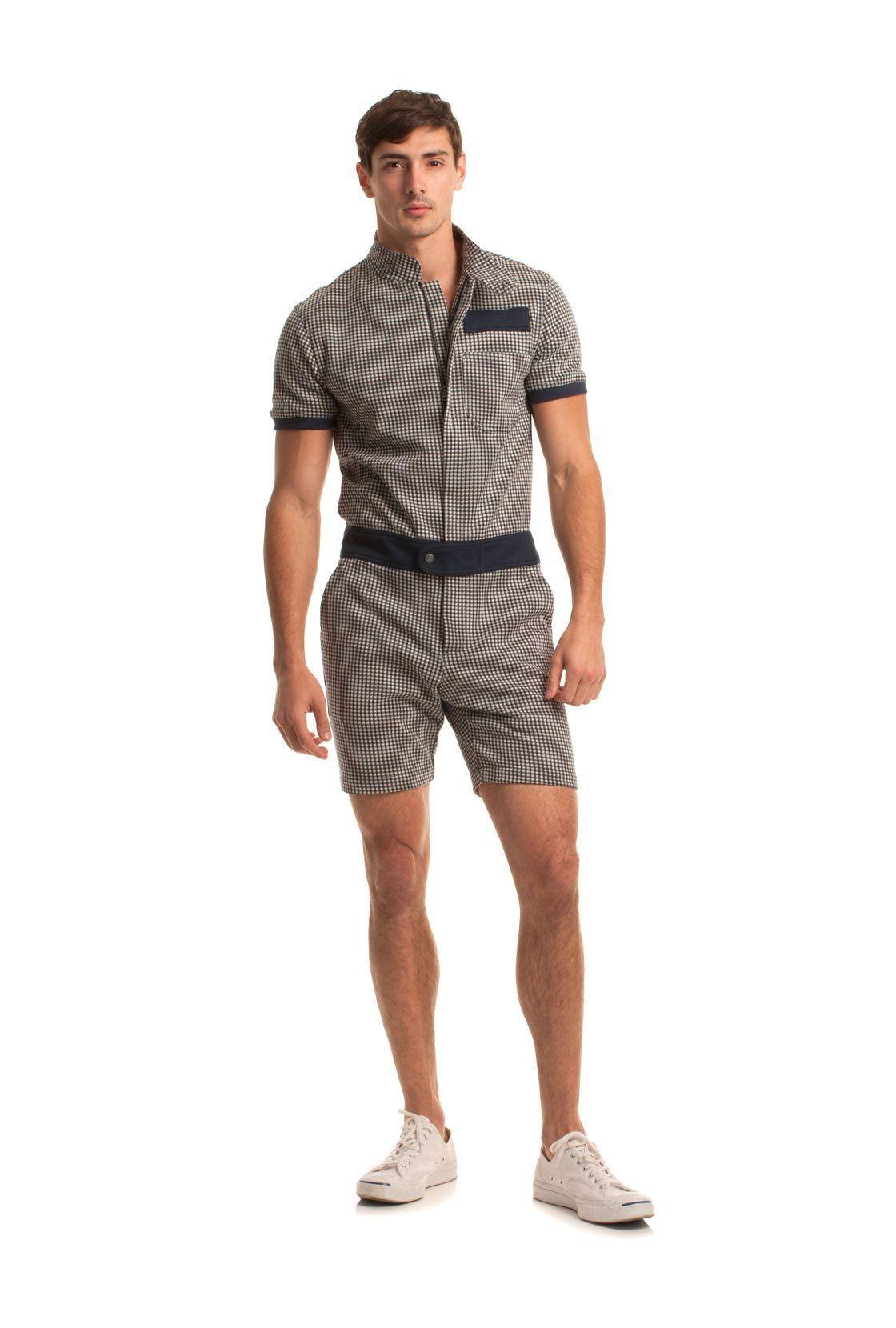 9d91130733d6 NEWTON SHORT JUMPSUIT - TrinaTurk Big Men Fashion
