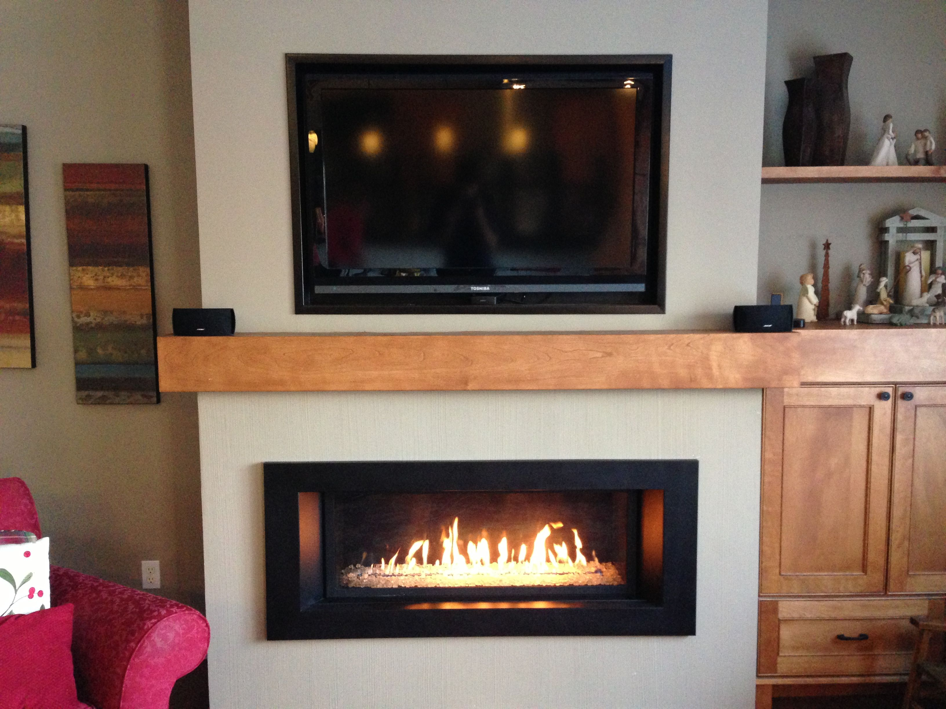 Beautiful Linear Gas Fireplace By Builder S Fireplaces See More