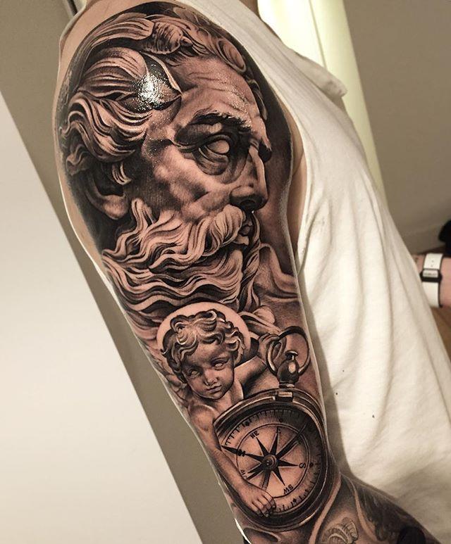 So here is the result of my work on @victorlindelof done two days in a row! #blackandgreytattoo #ink #tatuering #andyblanco #lifestyletattoosödermalm #lifestyletattoo #angeltattoo #sleeve #tattoosleeve #tattoooftheday #inkjunkeyz #bnginksociety #tattoomagazine